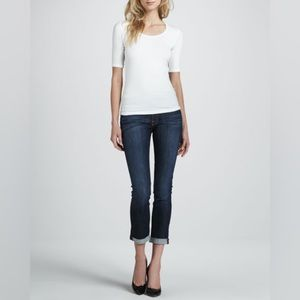 7 For All Mankind Jeans 27 Roxanne Crop Roll Hem